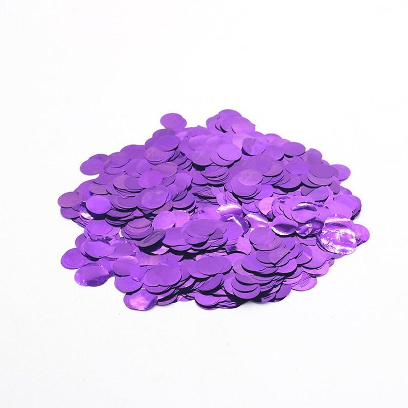 Art Crafts DIY Decorations 15mm 50g Metallic Glitter Foil Confetti Sequins for Balloons Bachelorette Party Wedding Festival Decor