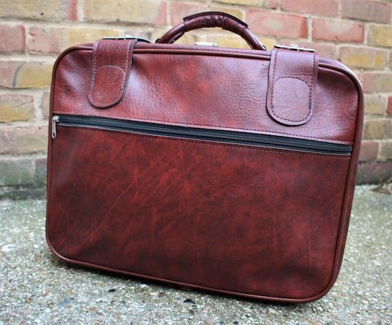 1970's Brown Suitcase - Vintage Weekend Bag