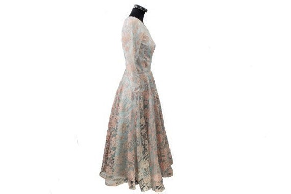 1950's Mesh Evening Dress - image 2
