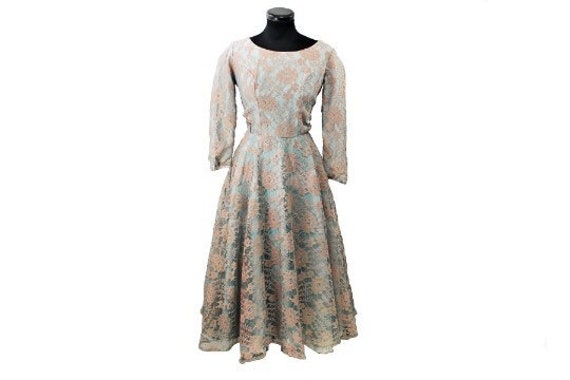 1950's Mesh Evening Dress - image 1
