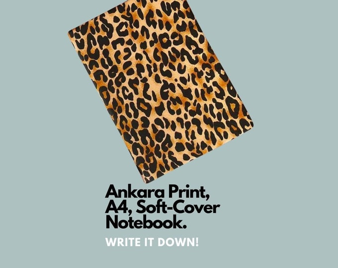 African Ankara Print Notebook for jotting down your next holiday adverture!