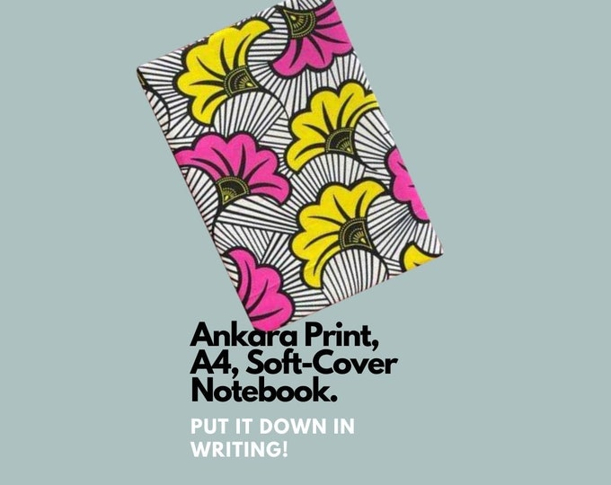 African Ankara Print Notebook with soft cover