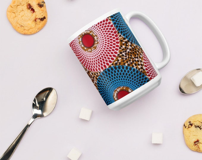 African Ankara Print Design Mug - Cycles