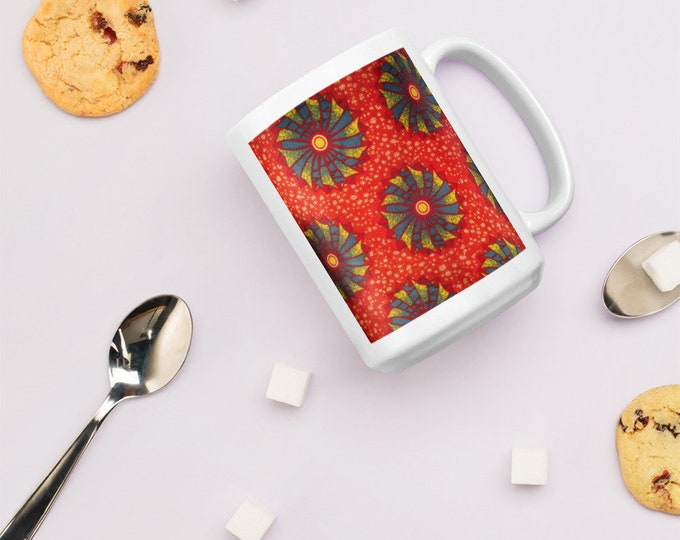 African Ankara Print Design Mug for enjoying a nice cuppa