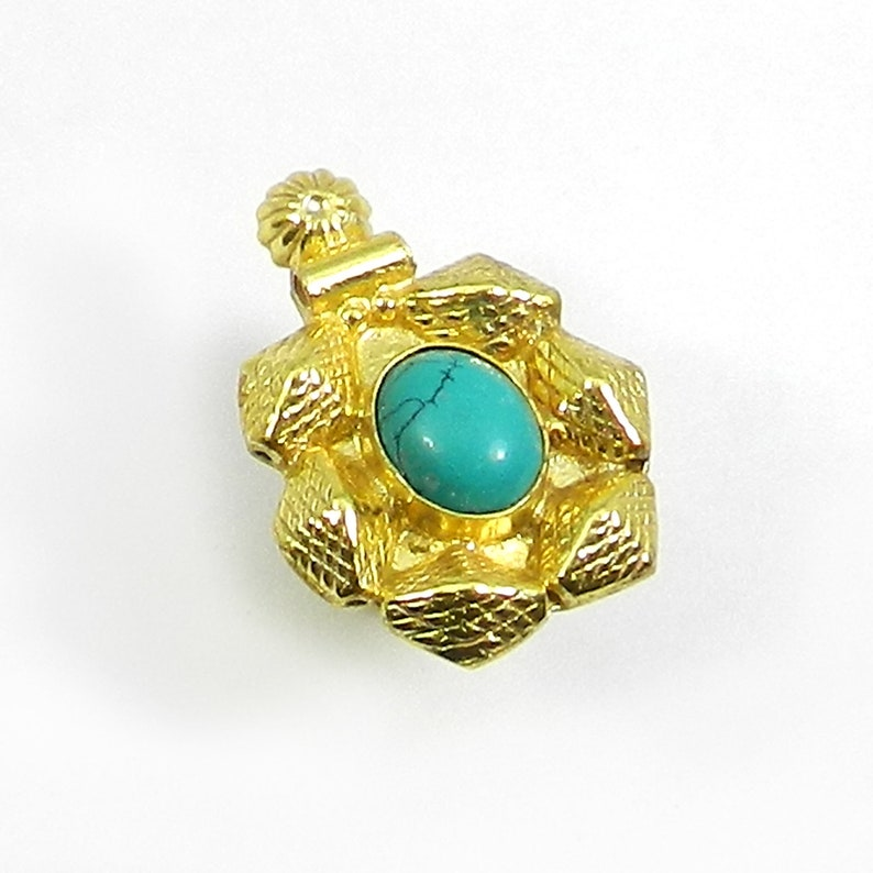 Statement Ring Boho Ring* Ring Gold Ring Turquoise Ring* Gold Vermeil Ring Gypsy Ring Blue *Bohemian Jewelry Hippie Handmade
