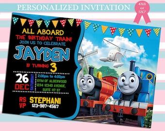Thomas The Train Invitation Etsy
