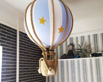 Decorative Hot Air Balloon, 51cm diameter. nursery decor, baby gifts, decoration, baby shower, travel nursery decor