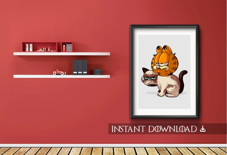 Garfield The True Grumpy Cat Digital Download Etsy