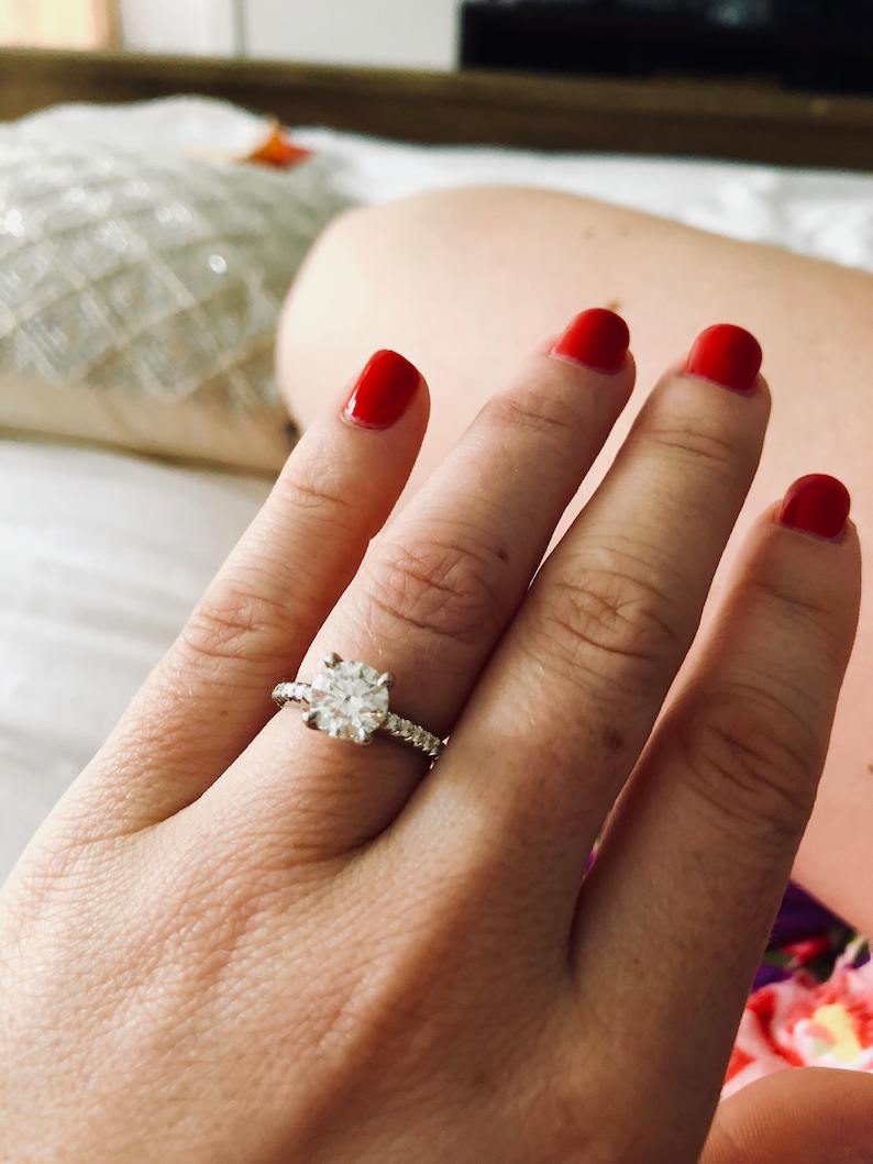 Details about  /Rock Crystal Ring Vintage Handmade Ring Dainty Halo Ring 925 Sterling Silver