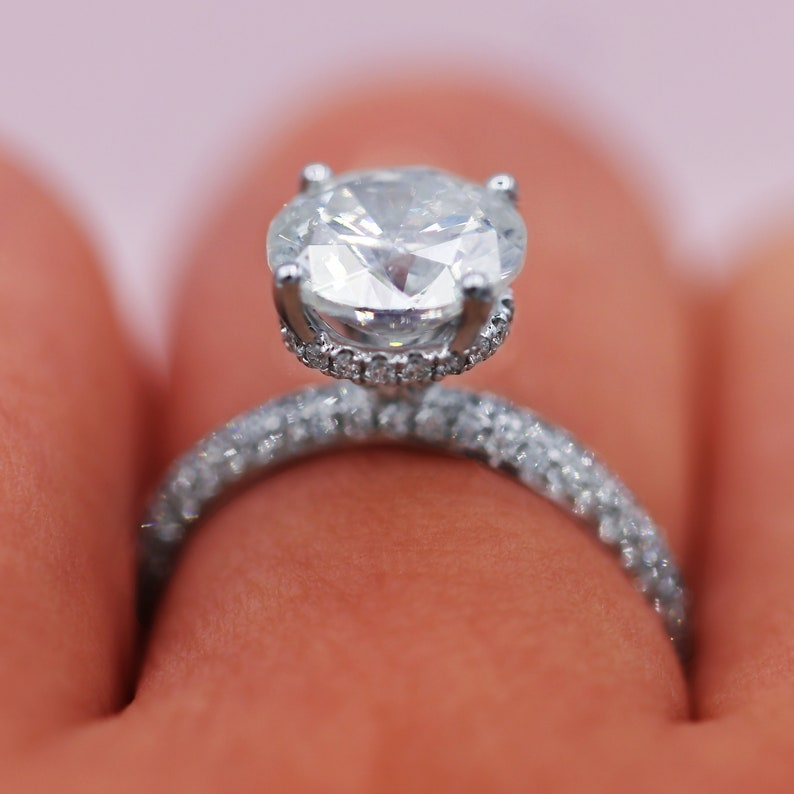 Personalized Gift Moissanite Engagement Ring Silver Ring Promise Ring Solitaire Ring 2.34 Ct Round Cut Moissanite Ring Wedding Ring
