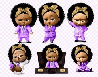 Boss Baby Dark Skin Clipart 300 Dpi 10 Images On Transparent