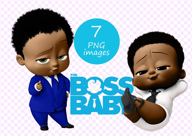 African American Boss Baby Boy Clipart