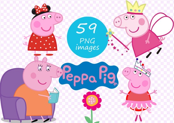 Peppa Pig Clipart 300 Dpi 59 Images On Transparent Background Peppa Pig Png Files