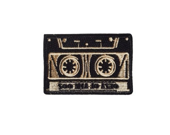 80/'s Nostalgia Cassette Tape Patch Iron on Applique Gothic Clothing Mix Tape