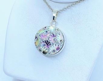 Holographic Jewelry Celestial Jewelry Iridescent Necklace Statement Necklace Titanium Necklace
