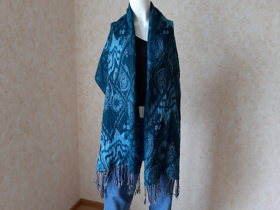Cashmere scarf vintage. Scarves for women. Unisex