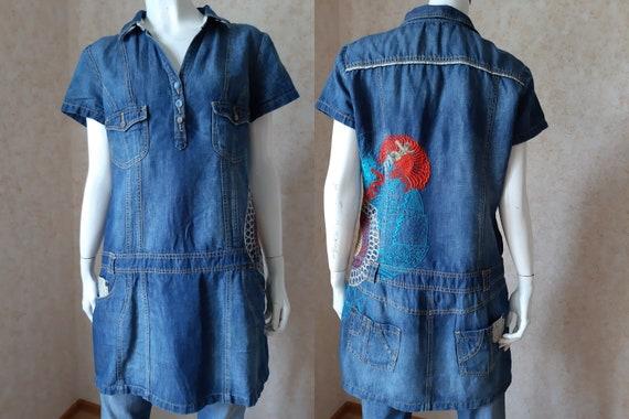 Vintage Desigual Jeans dress Office dress Elegant