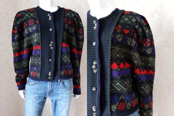 Vintage Trachten Austrian wool knit sweater, Wool
