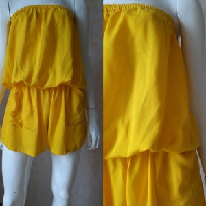 Romper with waist elastic Vintage cotton jumpsuit Sweet Lady romper Fashion jumpsuit Size SM Stylish jumpsuit Italian overall