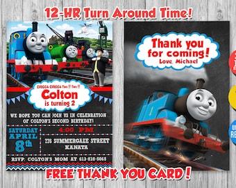 Thomas The Train Invite