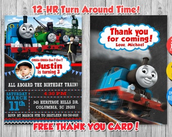 Thomas The Train Invitation With Photo