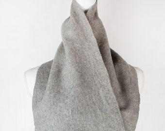 Vintage Fendi gray wool scarf tassels schiarpa neckerchiefs lana women s  men s high fashion unisex 5f238bca9