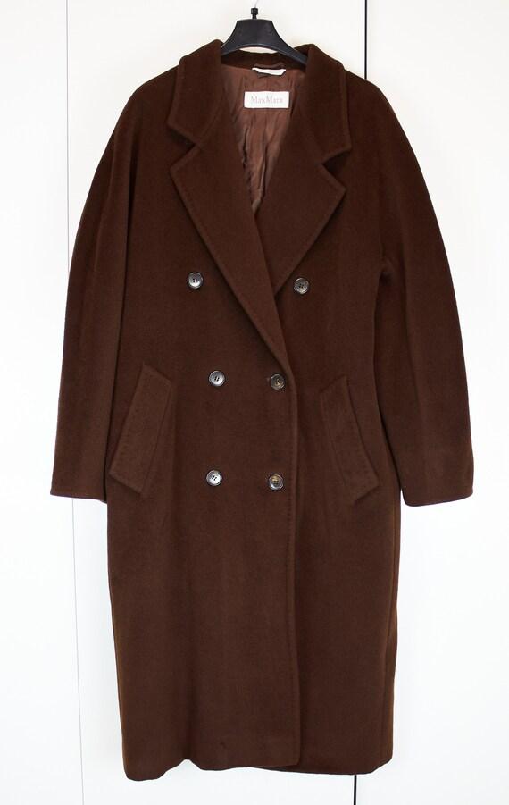 Vintage Max Mara 101801 coat brown wool coat Max M
