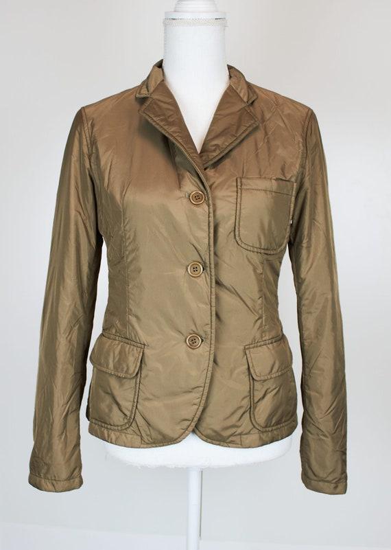 Vintage Aspesi women's blazer jacket beige mustard