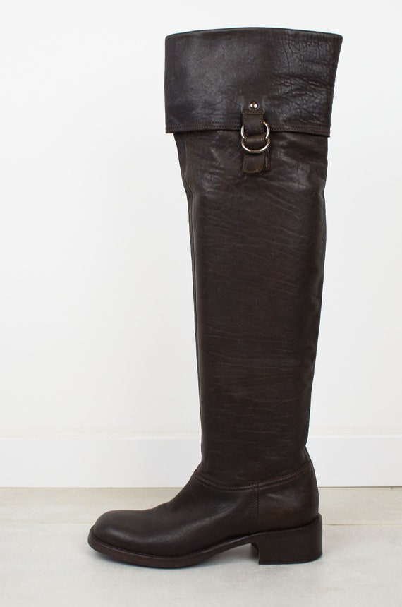 Vintage Miu Miu over the knee boot Miu Miu brown l