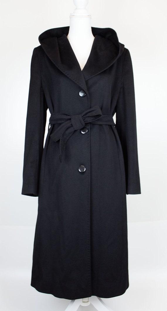 Vintage Loro Piana black coat hooded cashmere coat