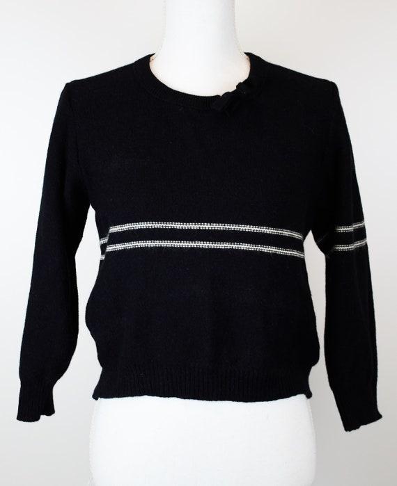 Vintage Sonia Rykiel sweater black striped knited