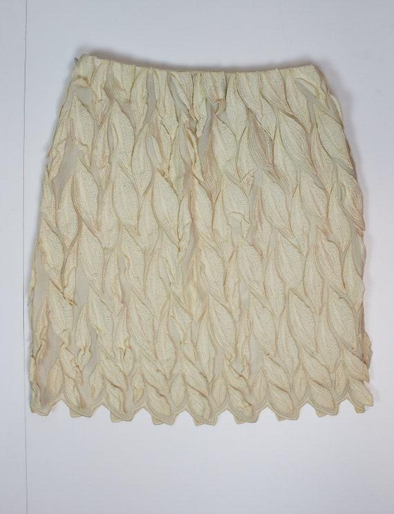 Vintage Valentino Garavani skirt mini ecru skirt c