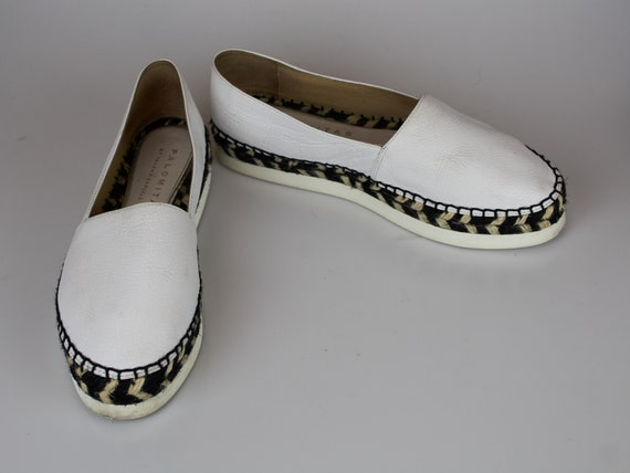 Vintage Paloma Barcelo espadrilles white leather e