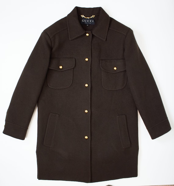 Vintage Gucci brown coat shirt style coat brown co