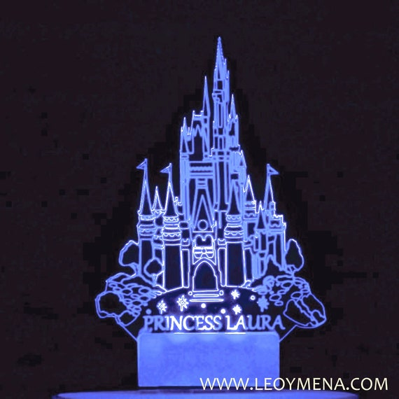Excellent Cinderella Castle Cake Topper Light Up Led Cake Topper Etsy Funny Birthday Cards Online Fluifree Goldxyz