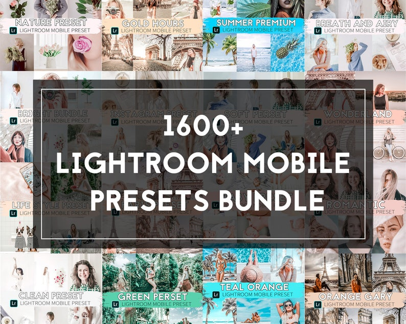 1600+ Lightroom mobile Preset:Lightroom presets, FREE UPDATES FOREVER, it  will be updated and you can download updates for free