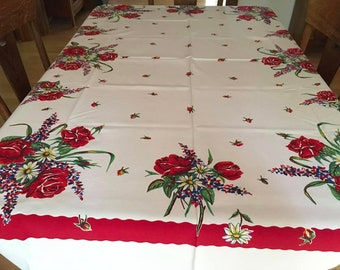 Vintage Tablecloth: Bright, bold and beautiful!