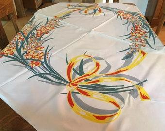 Gladiola Vintage Tablecloth GORGEOUS