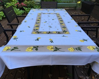 Awesome NOS Vintage Tablecloth with Paper Label