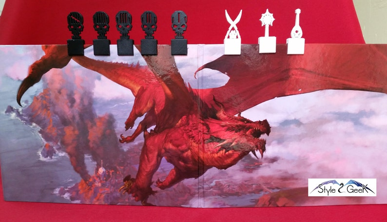 walkers heroes Dice-tray D20 Red Natural pathfinder C.O Fantasy gift for jdr flexible dd5 dragons