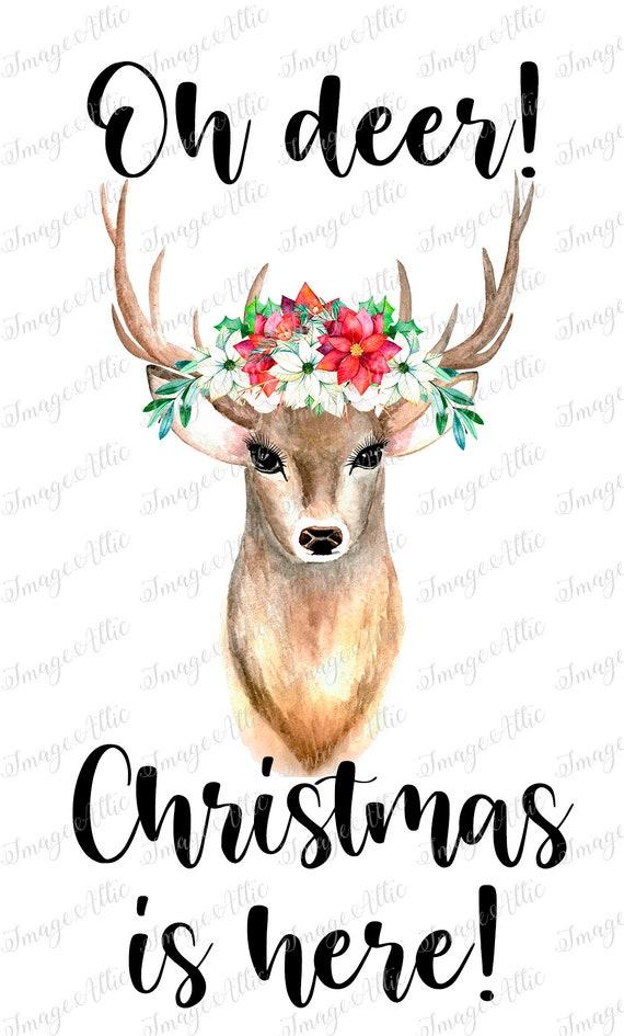 Oh Deer Christmas is here 2
