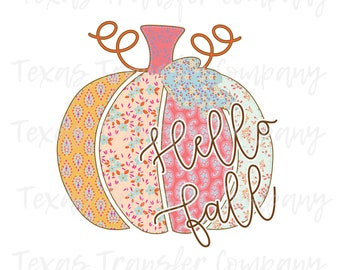 Fall Pumpkin Sublimation Heat Transfer Ready To Press Sublimation Heat Transfer Hello Pumpkin Mint Plaid and Leopard Sublimation Transfer