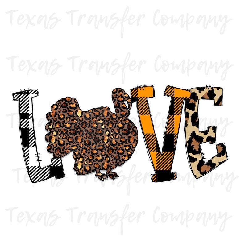 thanksgiving love turkey sublimation transfer fall leopard sublimation transfer ready to press heat transfer cotton tshirt transfer