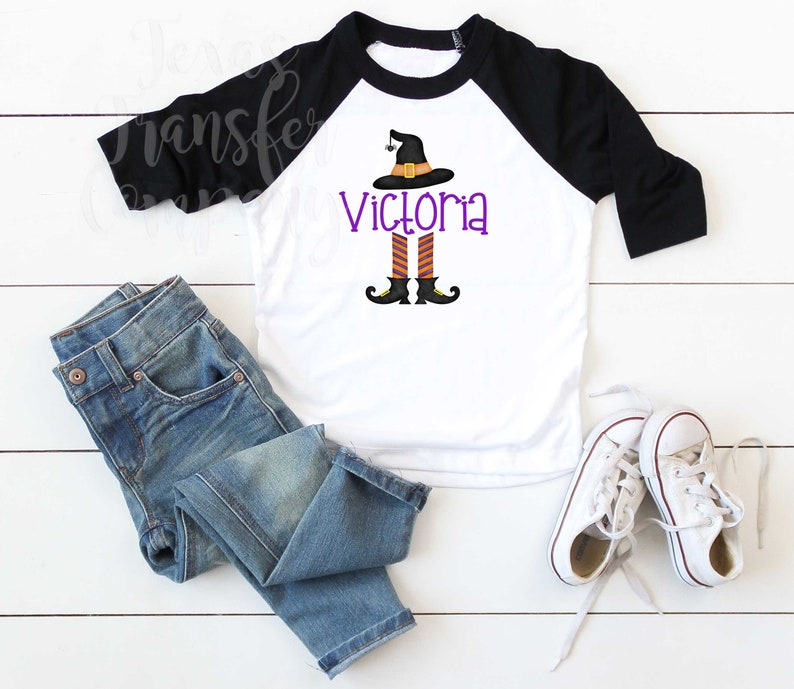 ready to press heat transfer cotton tshirt transfer spooky halloween transfer personalized witch legs sublimation heat transfer