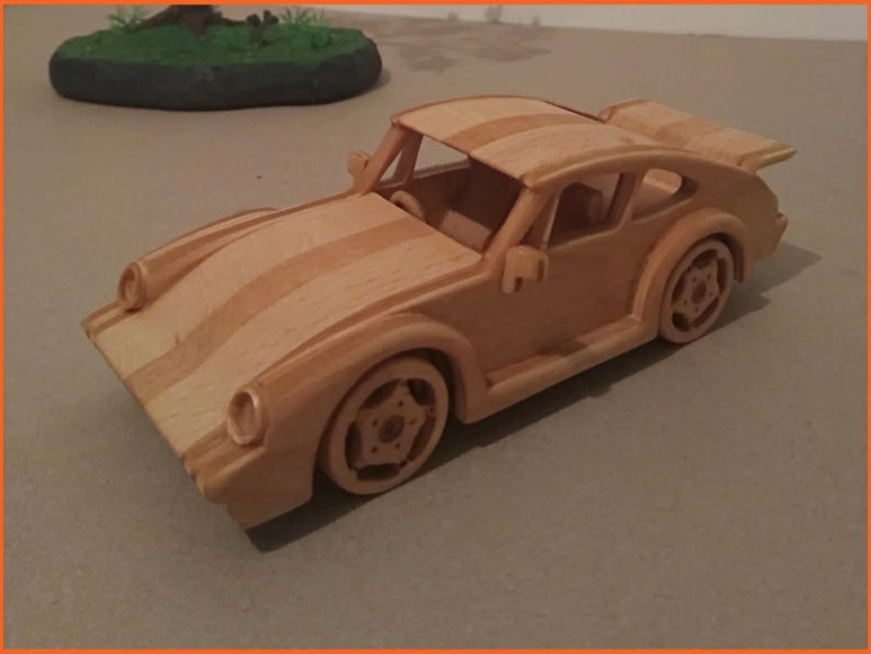 Wooden Toy Car Porsche 911 Turbo Ecological Etsy