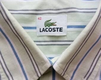 957fadfac3 Rare 100% coton Lacoste Vintage 80 's/90 's chemise en état FAB.