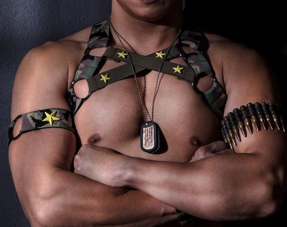 AJ MilitaryXCamouu - Circuit Party Harness