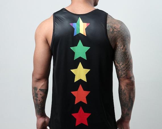 AJ Black Rainbow Star - Tank Top