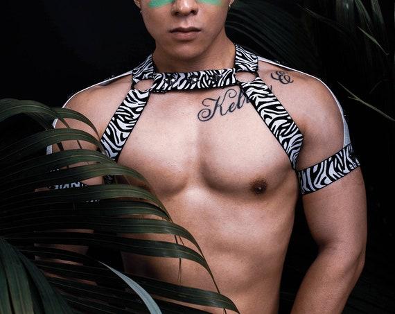 AJ Zebra Shoulder - Circuit Party Harness