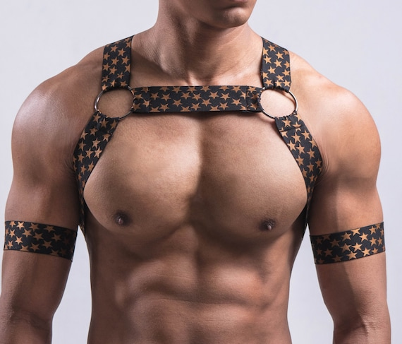 AJ Ebonics Gold Star - Circuit Party Harness